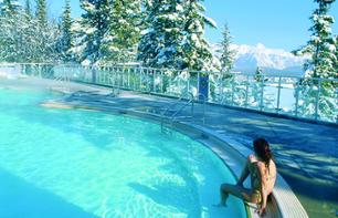 Bathing in Banff Upper Hot Springs – In Banff National Park