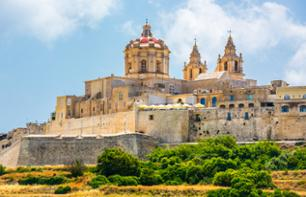 Guided visit of Mdina, Malta's old capital, and its surroundings - return travel from your hotel