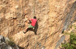 Rock Climbing in the Loup Gorges – Departing from Gourdon (40 mins. from Grasse)