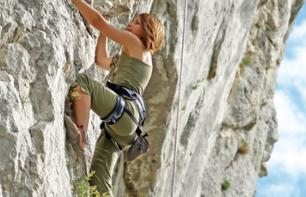 Rock Climbing at the Siagne Gorges – Departing from Saint-Cézaire-sur-Siagne (30 mins. from Grasse)