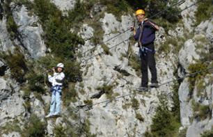 Balma Negra Via Ferrata - Mercantour National Park - Departure from Roubion (1 hr. 30 mins. from Nice)