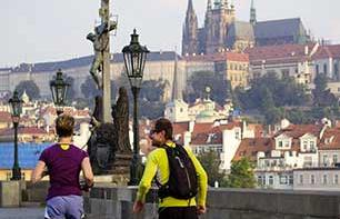 Jogging à Prague : visite guidée en courant