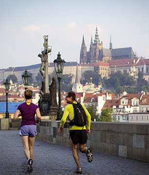 Jogging in Prague