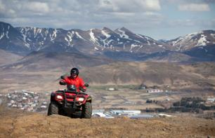 Quad bike ride in the mountains of Iceland - departure from your hotel in Reykjavik