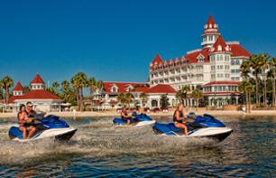 Jet skiing on the lake in Walt Disney World - hire by the hour