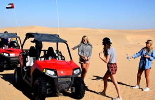 Buggy driving in the Dubai desert