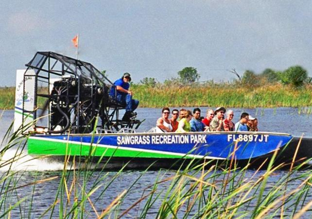 Photo Tour en airboat dans les Everglades & Visite du parc Sawgrass