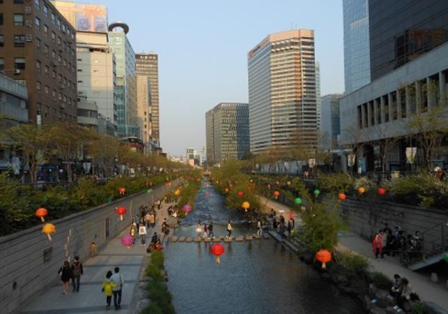 Photo Visite guidée du Musée national de Corée et promenade le long du ruisseau Cheonggyecheon