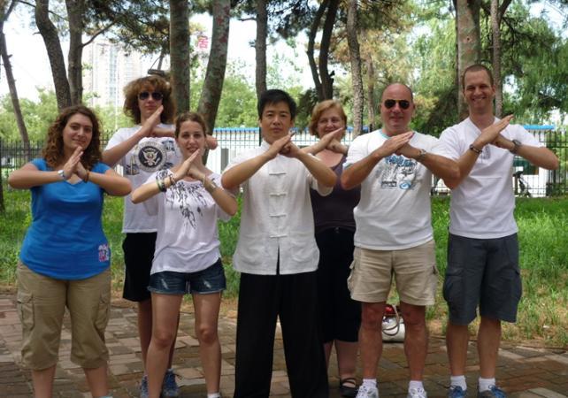 Cours de Kung-fu au Temple du Ciel de Pékin - Pekin -