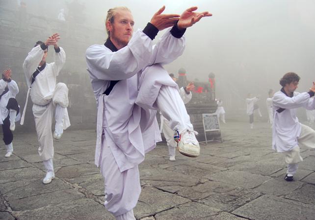 Cours de Tai-chi au Temple du Ciel de Pékin - Pekin -