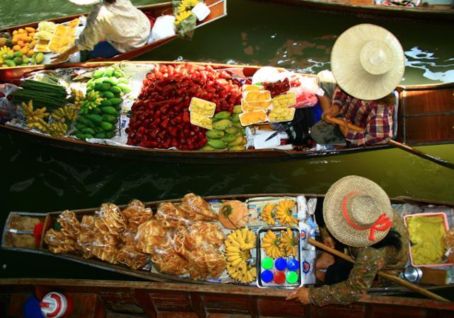 Photo Excursion au marché flottant Damnoen Saduak et découverte de la vie rurale thaïlandaise – en matinée