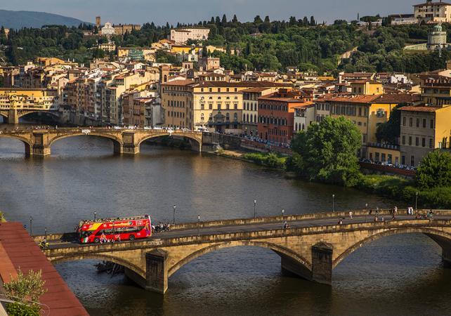 Photo Florence en bus à arrêts multiples