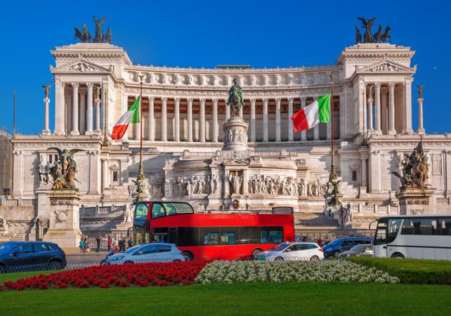rome offre 2 en 1 rome en bus arr ts multiples pass transport 48h billet coupe file. Black Bedroom Furniture Sets. Home Design Ideas