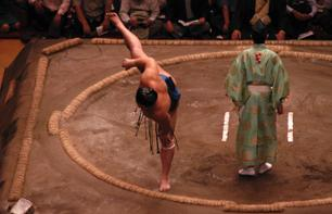 Sumo Evening: Sumo Tournament Tickets & Chankonabe Dinner