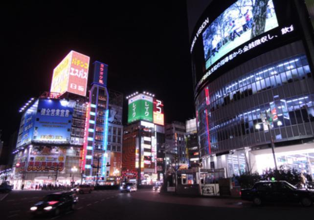 Photo Visite à pied du quartier de Shinjuku la nuit