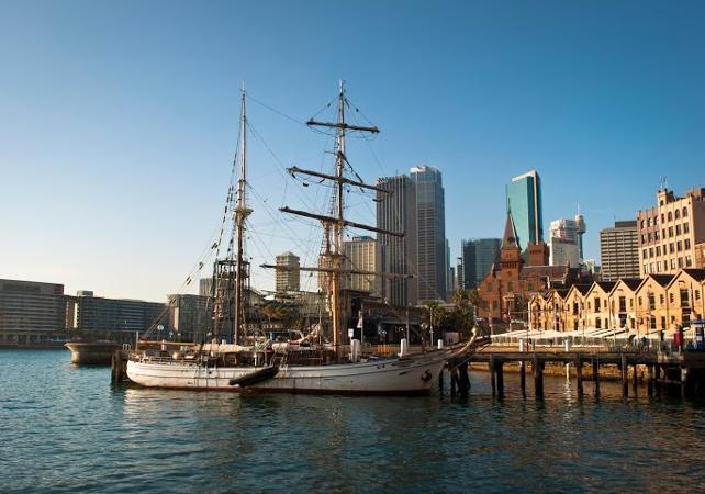 """Déjeuner-croisière sur un voilier de 1850 et visite guidée de l'île prison """"Goat Island"""" à Sydney image 6"""