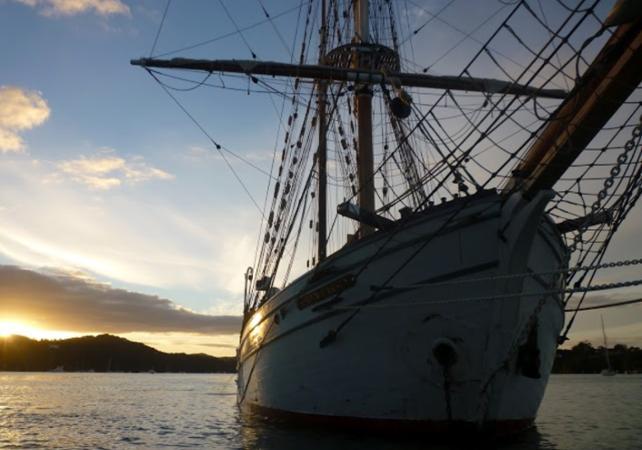 Dîner-croisière sur un voilier de 1850 dans la baie de Sydney - Au coucher du soleil image 8