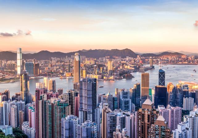 Photo Hong Kong de nuit : croisière et dîner au pic Victoria