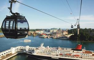 A morning on Sentosa island - cable car ride, and visit to the Images of Singapore Museum, butterfly park and aquarium