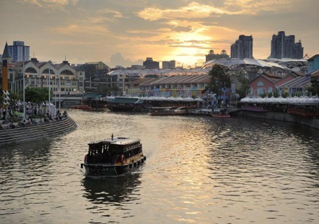 Visite nocturne du quartier chinois de Singapour - Singapour -