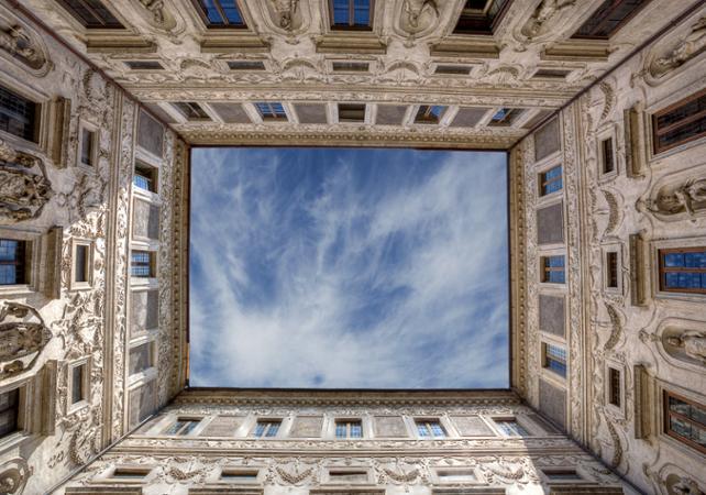rome billet coupe file galerie du palais spada rome. Black Bedroom Furniture Sets. Home Design Ideas