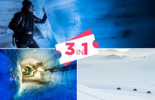 3 for 1 offer: Trip to Langjökull with a snowmobile tour and an ice cave visit - leaving from Reykjavik