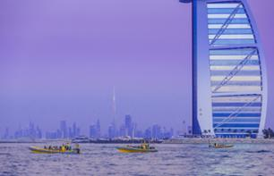 Yellow Zodiac Boat Cruise in Dubai – Marina, Palm Jumeirah and Burj Al Arab route (1 hr. 39 mins)