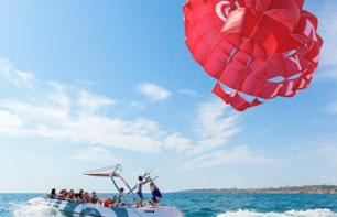 Parasailing in the Bay of Albufeira