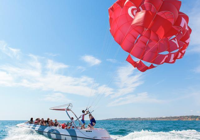Parachute ascensionnel dans la baie d'Albufera - Albufeira - Ceetiz