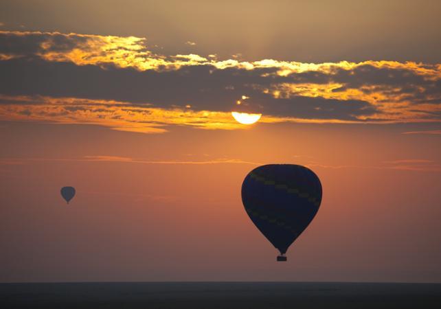 Photo Balade en montgolfière au dessus de Las Vegas au lever du soleil