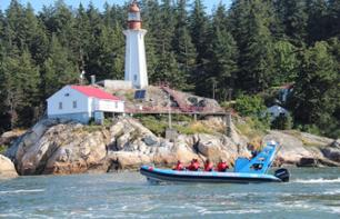 Zodiac Boat Tour to Granite Falls in Vancouver