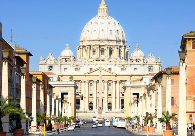 Rome visite priv e de rome et du vatican en 2 jours for Exterieur basilique saint pierre