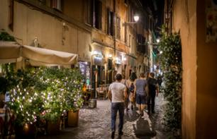 Evening Walk around Trastevere and Dinner with a Roman Family
