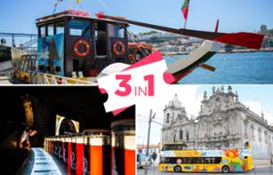 3-in-1 Offer - 2 Days - 6 Bridge Cruise, Hop-on, Hop-off Bus, Visit to Calém Wine Cellars - Porto